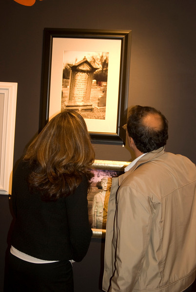 People looking at my image<br /> The Weird NJ photography group exhibition<br /> Noyes Museum of Art<br /> Oceanville, NJ<br /> October 16 - February 28, 2010