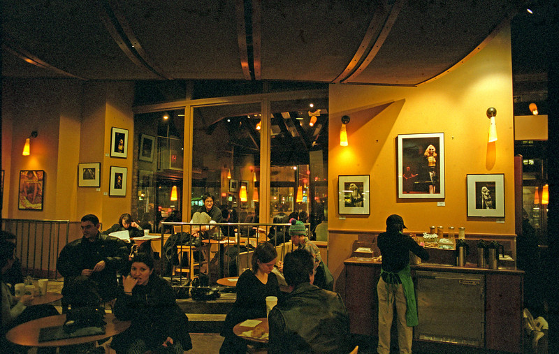Blondie photography exhibit at Starbucks<br /> Astor Place, New York City<br /> February 1999 - March 1999