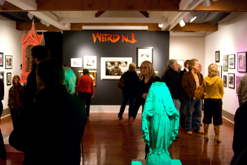 "The ""Weird NJ"" photography exhibition<br /> My photograph, entitled ""Died of a Horrible Accident"" is on the upper right of the black wall.<br /> Noyes Museum of Art<br /> Oceanville, NJ<br /> October 16, 2009 - February 28, 2010"