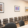 Conference Room, Board Room Area with Corporate Fine Art Framed Images. Pebbles, Point Lobos, Monterey Bay Aquarium Jellyfish, Mt Tam Marin Headlands Sunset