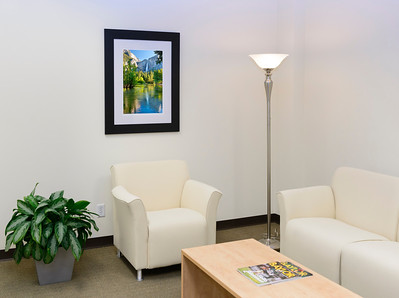 Office Reception Lobby Area with Corporate Fine Art Framed Yosemite National Park Images.