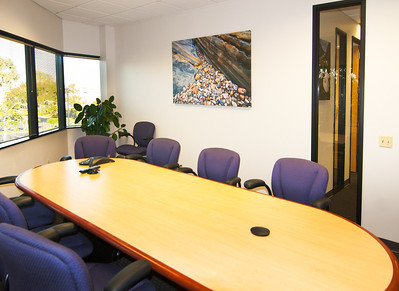 Office Conference Room with Corporate Fine Art Framed Gallery Wrapped Canvas Point Lobos Rock Artwork