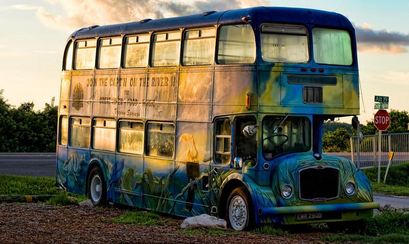 Capt'n Jack's Waterfront Grill and Tiki Bar Bus at Sunrise in Tarpon Springs (8/30/09)