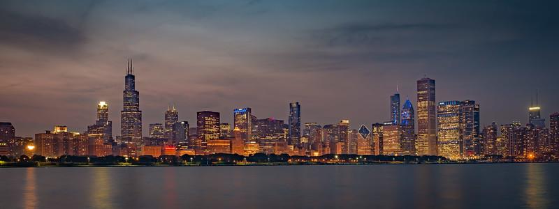 Nighttime Chicago