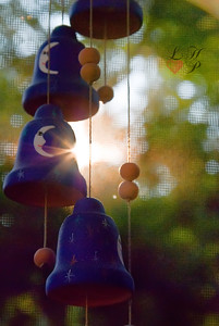 Sunflare on windchimes