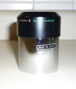 University Optics Giant Konig II 2 inch 32mm eyepiece. This example is quite clean and the coloring is actually gold.