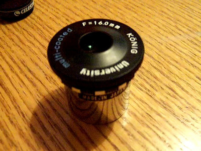 Video of 16mm Flat Top Konig eyepiece from the 1970's.