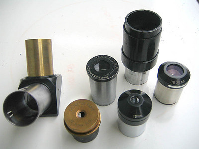 Series of early eyepieces. Image by E. Ramos