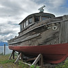 OLD FISHING BOAT NEAR HOONAH, ALASKA