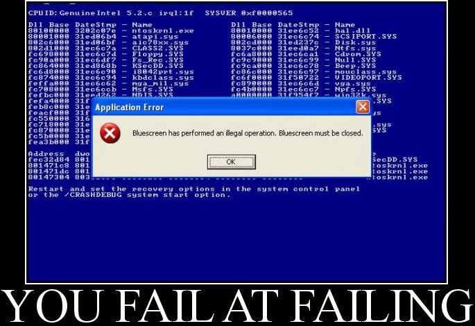 bsod fail