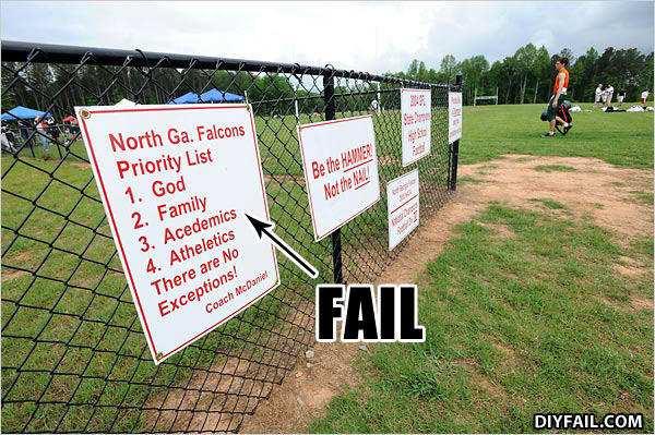 coach fail