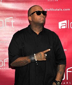 21 April 2012-New York, NY- Rapper HiFeva, on red carpet, at Fashion Avenue News Magazine launch party at the Aloft Harlem Hotel. Photo Credit: Duncan Williams/Sipa USA