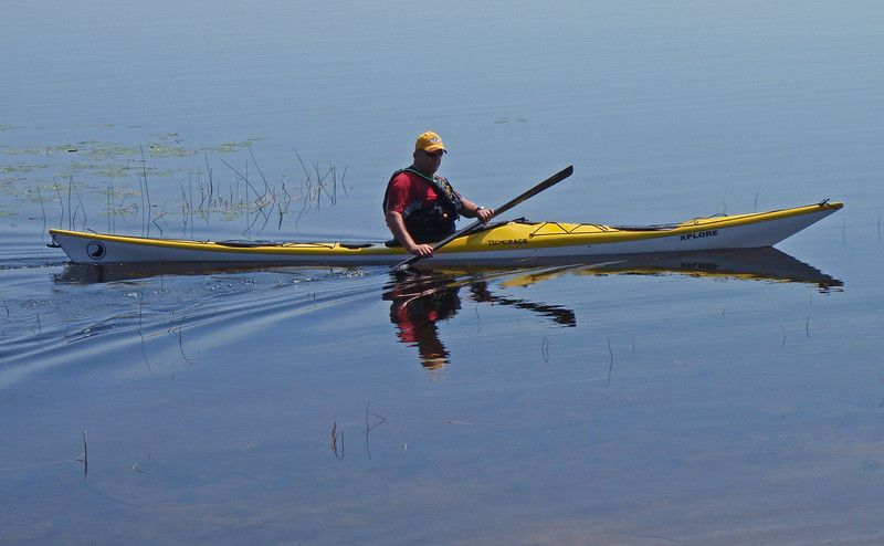 """me""... Pic taken by Randy of NY Kayak ""demo boat"" on Massabesic."