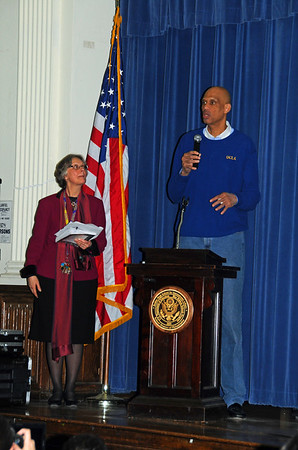 "In celebration of Black History Month, Kareem Abdul-Jabbar, the NBA's all-time leading scorer, is appearing at Philadelphia's Bodine High School to promote his documentary ""On the Shoulders of Giants."""