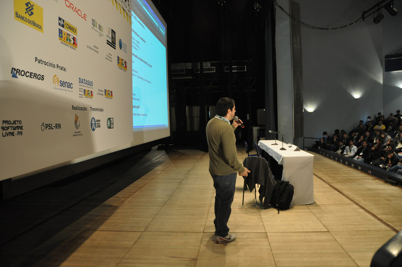 View of Marcio speaking