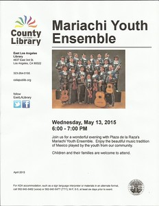 5-13-2015 MARIACHI YOUTH ENSEMBLE