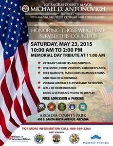 5-23-2015 MEMORIAL DAY - ARCADIA PARK