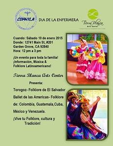 1-10-2015 TIERRA BLANCA ARTS CENTER - Dia De La Enfermera