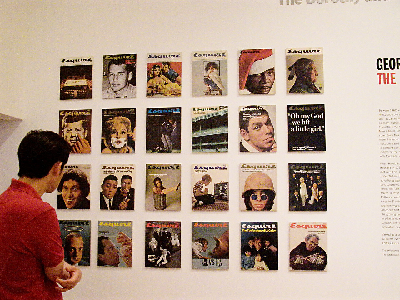 GEORGE LOIS EXHIBIT AT THE MUSEUM OF MODERN ART, NEW YORK- Digilux 1 ISO 200