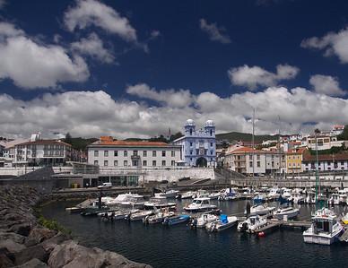 Boat Harbor in Azores