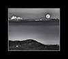 Floating Moon<br /> Santa Catalina Mountains<br /> Arizona