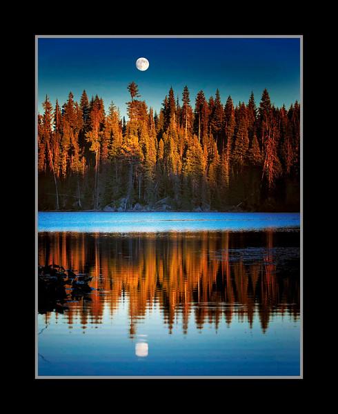 Cascade Lakes Moonrise
