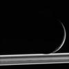 Cassini photograph of Saturn's moon Enceladus.  Credit original image to: NASA/JPL-Caltech/Space Science Institute