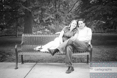 Sitting on a Park Bench bw-