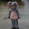 Abby was an elephant for Halloween