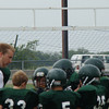 Coach Fields gets the boys ready