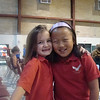 Abby and Catherine at Volleyball game