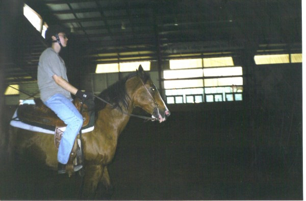 Riding Laddie... I rode on the JV western team for awhile.