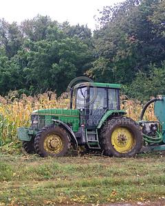 Concord,MA Tractor in Corn Field on Sudbury Road