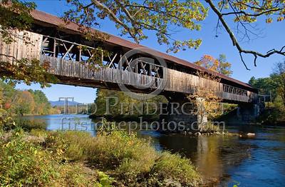 Campton,NH - Blair Covered Bridge - Blair Road over the Pemigewasset River. Built 1870.