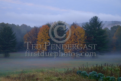 Erving,MA - Rte2 Field - Pioneer Valley just before sunrise