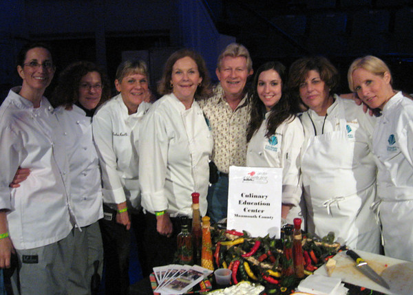 Frank Rother poses with members of the Brookdale Epicurean Club, who prepared quesadillas for guests at The Center in Asbury Park's annual fundraiser on May 7 at Convention Hall.  (The Center in Asbury Park provides support for people living with HIV/AIDs and their caregivers.) Over 35 restaurants participated.
