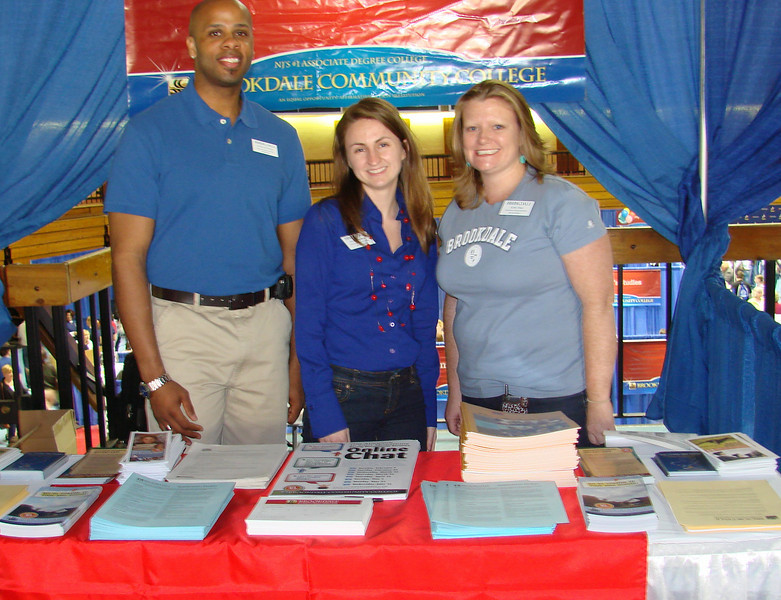 Many thanks to all those who participated in the Spring Open House! Pictured here: Andre Richburg, Kristin Worthley, and Katie Shea of Recruitment Services.