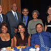 At the Hispanic Heritage Month celebration on September 26 at Fort Monmouth's Gibbs Hall; back row, from left: Jim Sulton, Webster Trammell, Gerry Monroy, Elsy Monroy, and Anne Marie Sparaco; front row: Jackeline Mejias-Fuertes,  Vivian DeLosSantos, and Jose Hernandez.