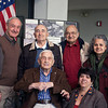 Dads at the WWII Center  ...  Both Geanna Merola (right, standing) and Mary Ann Krenz (right, seated) had their fathers interviewed at the Narozanick World War II Resource Center on January 27 as part of the Center's Veterans History Project.  Paul Frisco (second from left, standing), veteran volunteer and coordinator of the Veterans History program, was the interviewer.
