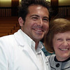 Newly pinned Brookdale Nursing student Vincent Guagenti poses with Brookdale Nursing Professor Nancy Lenaghan at the Pinning Ceremony on May 17.