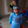 Daycare halloween. trick or treating in the pouring rain :(