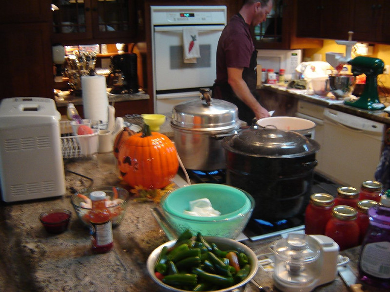 Fall time <br /> Making Jalapeno Poppers