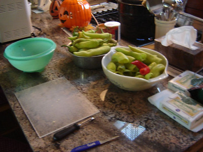 Fall time  Pickeling Banana Peppers