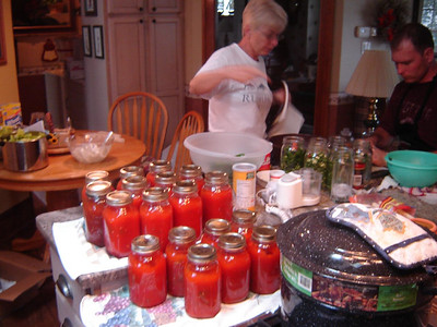 Fall time  Canning Tomatos