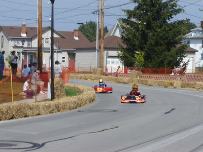 """Fall time  These are 4 to 6 year olds racing """"Go Carts"""""""