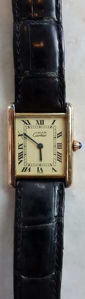 Carier watch with sterling case
