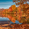 Bench with Lake Junaluska View II