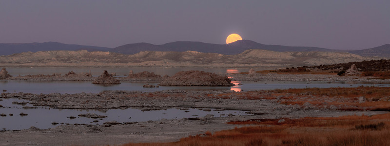moonrise over Mono Lake