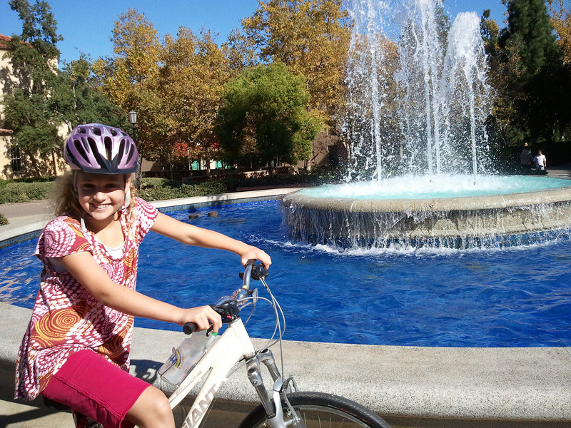 Kate and I took a bike ride over to Stanford, had some Jamba Juice and then toured the campus.  We had a great time together and Kate rode 10 miles for the first time.