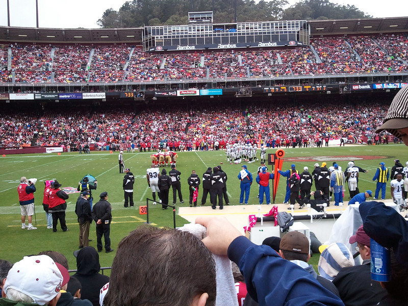 Patty got me tickets to my first NFL football game - Niners vs Raiders.  The 49ers won their first game and we all got pretty wet from the rain.  But it was great fun.